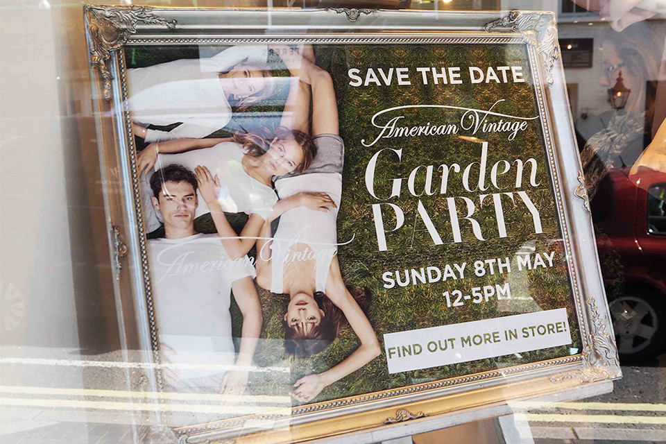 American Vintage Garden Party In Store Event