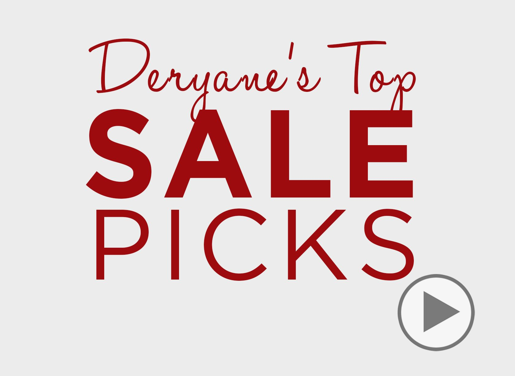 Deryane's Winter Sale Picks Video, Styling Video, How To Video