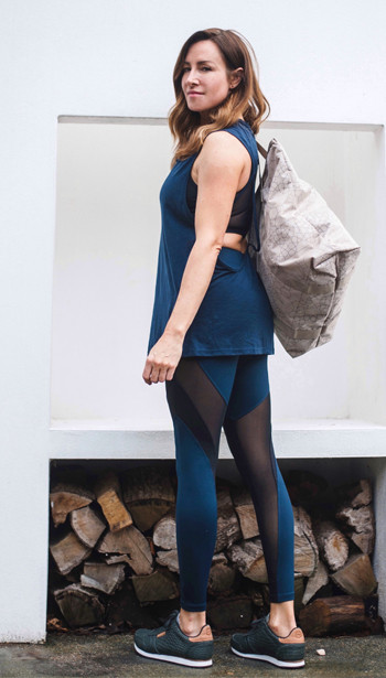 Emma Morreale - Activewear Look 3 - Koral Aura Top and Frame Leggings