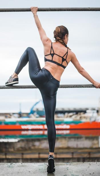 Emma Morreale - Activewear Look 1 - Koral Element Sports Bra and Lusturous Leggings