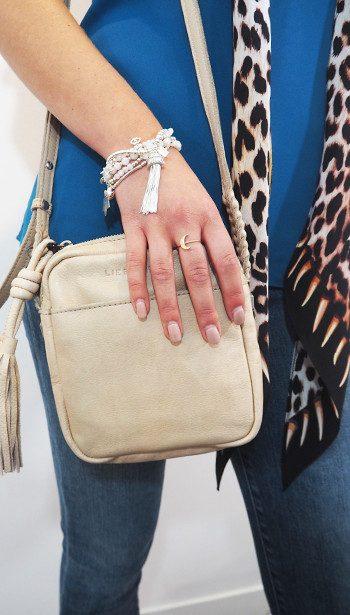Cooper & Ella top, Liebeskind bag, Rockins Scarf and ChloBo bracelet