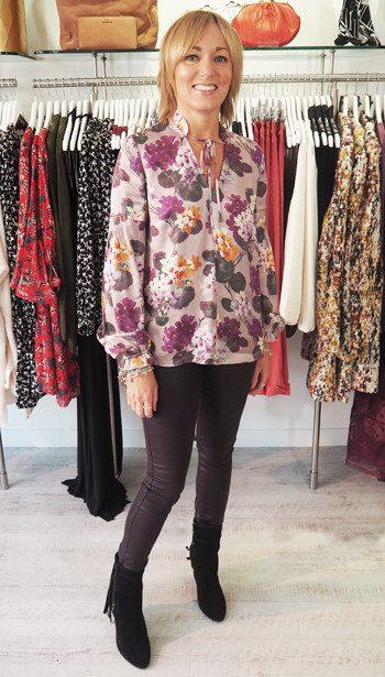 Day Birger Et Mikkelsen blouse, Paige Denim coated jeans and Ash Footwear Tassel Boots