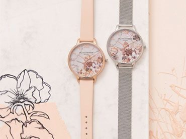 Olivia Burton Marble Floral Watches