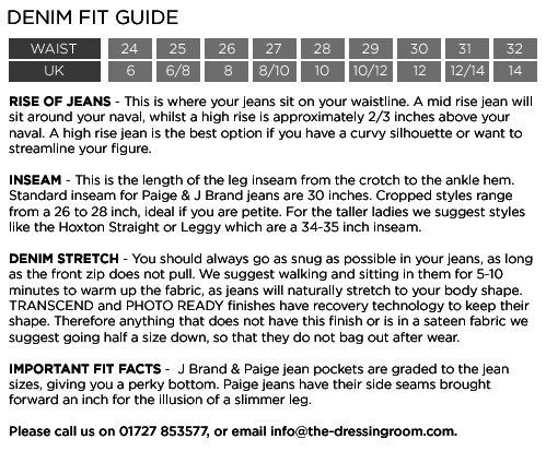 Denim Size Guide