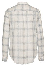 CUSTOM MADE Aima Checked Shirt - Grey Violet
