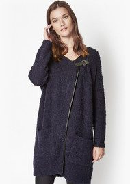 Great Plains Banging Buckled Cardigan - Navy