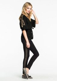 Maison Scotch Party Kimono - Black