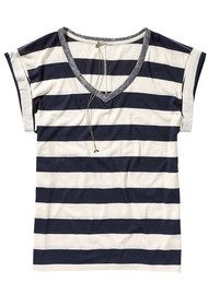 Maison Scotch Burnout Striped Tee - Combo A