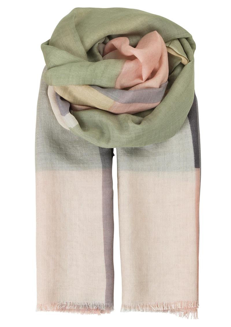 Becksondergaard V-Anan Wool Mix Scarf - Pale Green main image