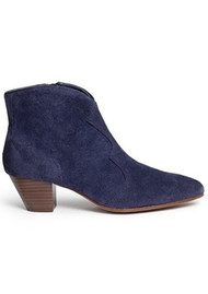 Ash Hurrican Suede Ankle Boot - Navy