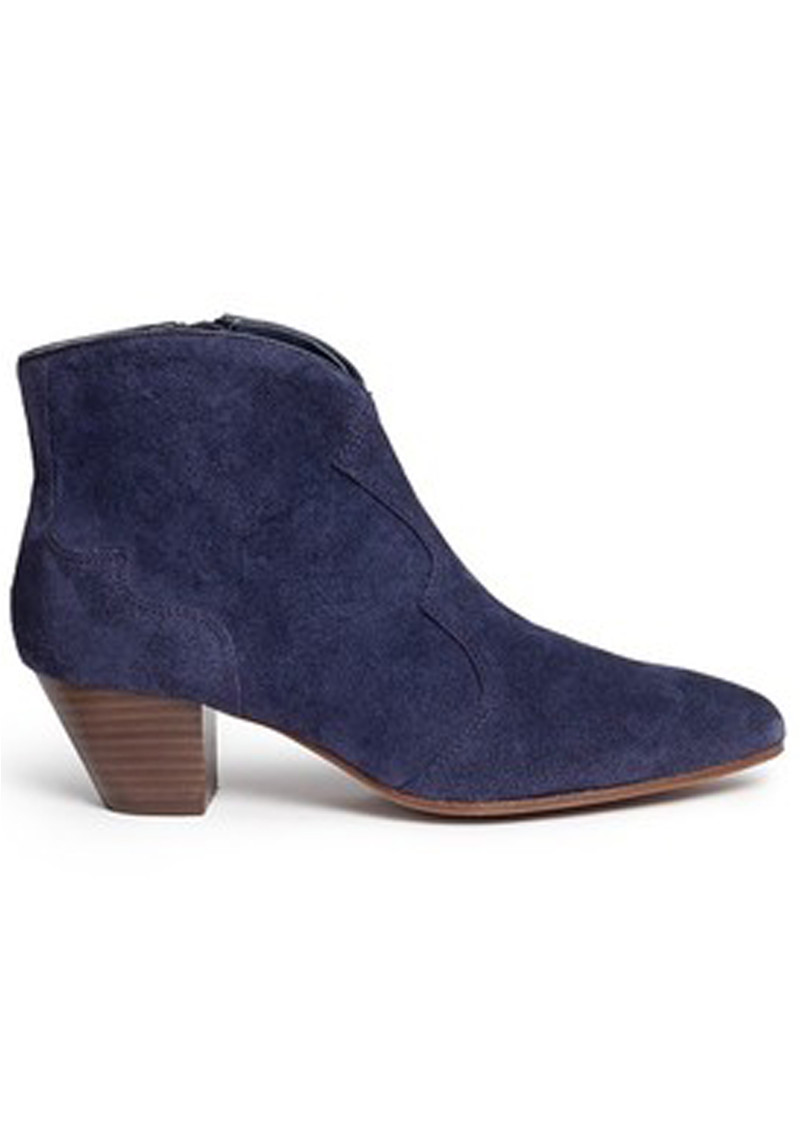 Ash Hurrican Suede Ankle Boot - Navy main image