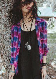 Rails Danielle Shirt - Merlot & Indigo