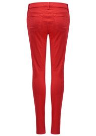 J Brand Mid Rise Super Skinny Jeans - Torch Red