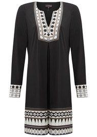 Hale Bob Allanah Geometric Print Dress - Black & White