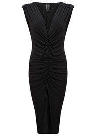 KAMALI KULTURE Shirred Party Dress - Black