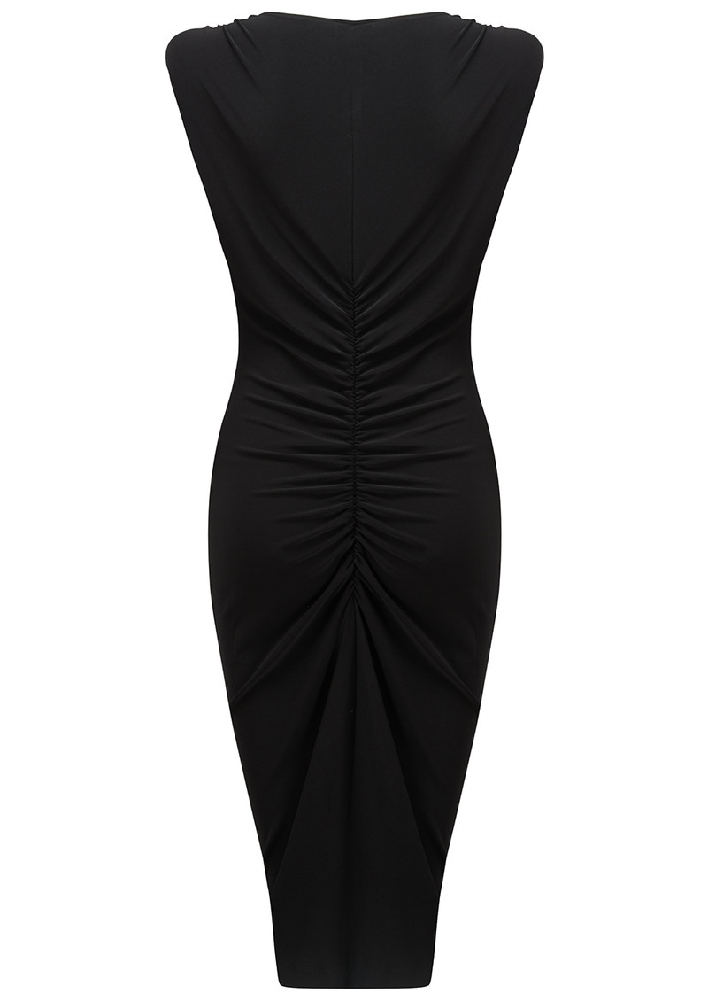 NORMA KAMALI Shirred Party Dress - Black main image