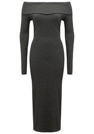NADIA TARR Off The Shoulder Pencil Dress - Grey