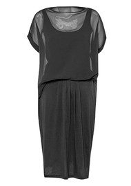 Great Plains Featherweight Jersey Mix Dress - Black