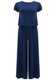 American Vintage Cyokerstate Short Sleeve Jumpsuit - Azur