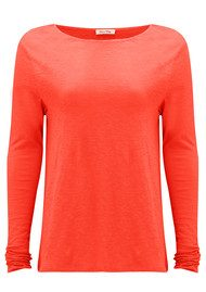 American Vintage Lorkford Long Sleeve Top - Coral