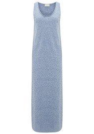 American Vintage Skanea Long Cotton Mix Dress - Nautical
