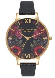 Olivia Burton Enchanted Garden Mirror Watch - Black & Gold