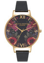 Enchanted Garden Mirror Watch - Black & Gold additional image