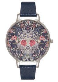 Olivia Burton Enchanted Garden Watch - Navy & Silver