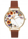 Enchanted Garden Flower Festival Watch - Tan & Gold additional image