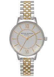 Olivia Burton Wonderland Mix Metal Bracelet Watch - Silver & Gold