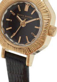 Olivia Burton Mini Antiques Black Dial Watch - Black & Gold
