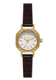 Olivia Burton Mini Antiques Watch - Brown & Gold