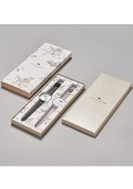 Olivia Burton Big Dial Interchangeable Strap Gift Set - Black, Grey Lilac & Silver