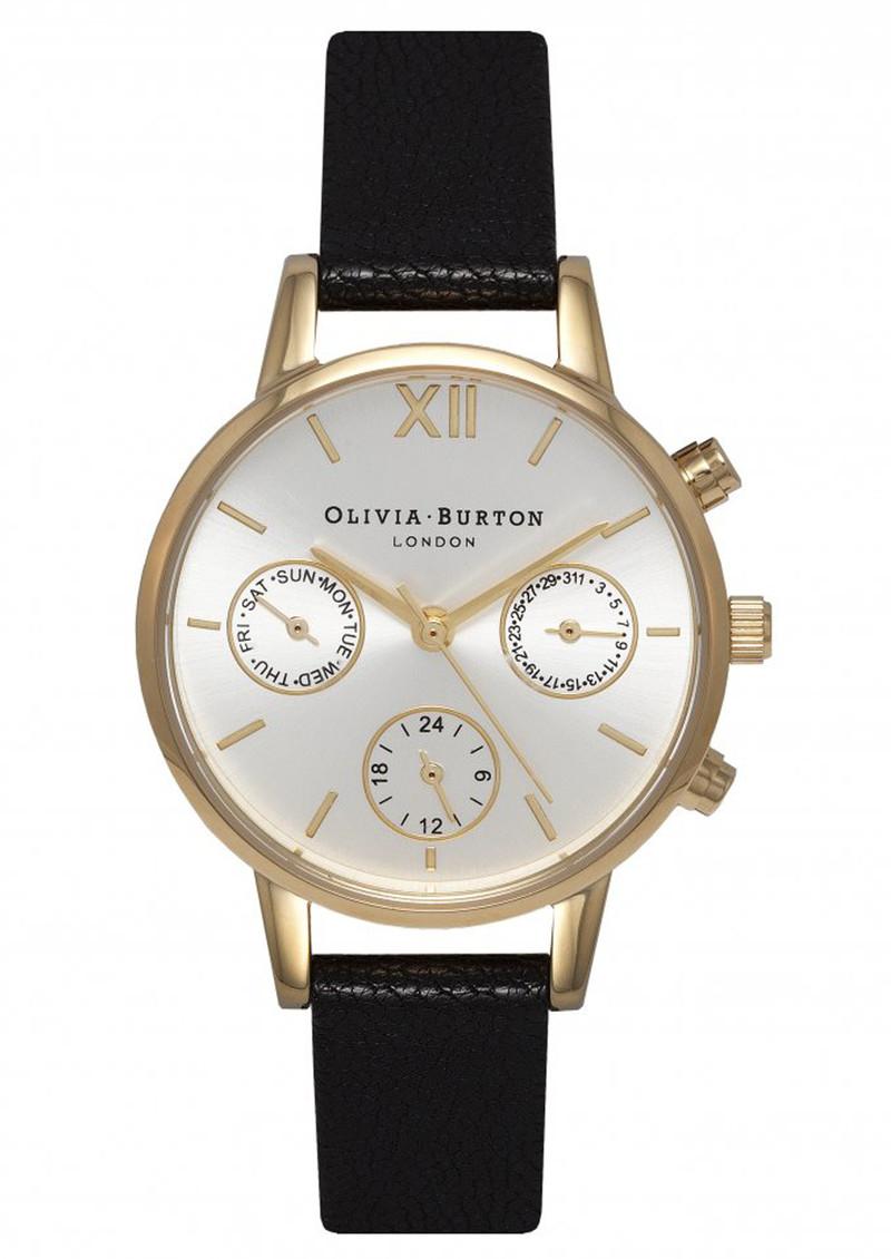 Olivia Burton Midi Dial Chrono Detail Watch - Black, Gold & Silver Mix main image