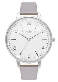 Olivia Burton Modern Vintage Large White Face Watch - Grey Lilac & Silver