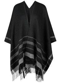Becksondergaard W-Ramla Wool Poncho - Black