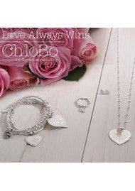 ChloBo Love Always Wins Heart Necklace - Silver