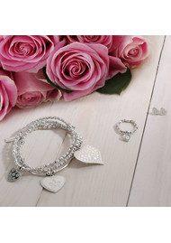 ChloBo Love Always Wins Cute Mini Sparkle Puffed Heart - Silver