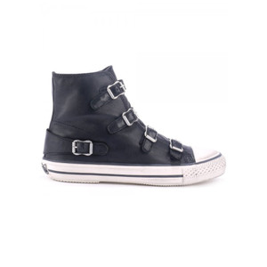 Virgin Leather Buckle Trainers - Black