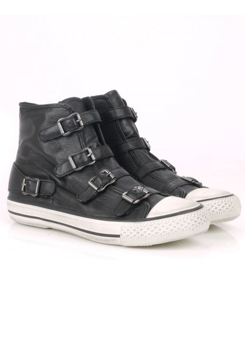 Virgin Leather Buckle Trainers - Black main image