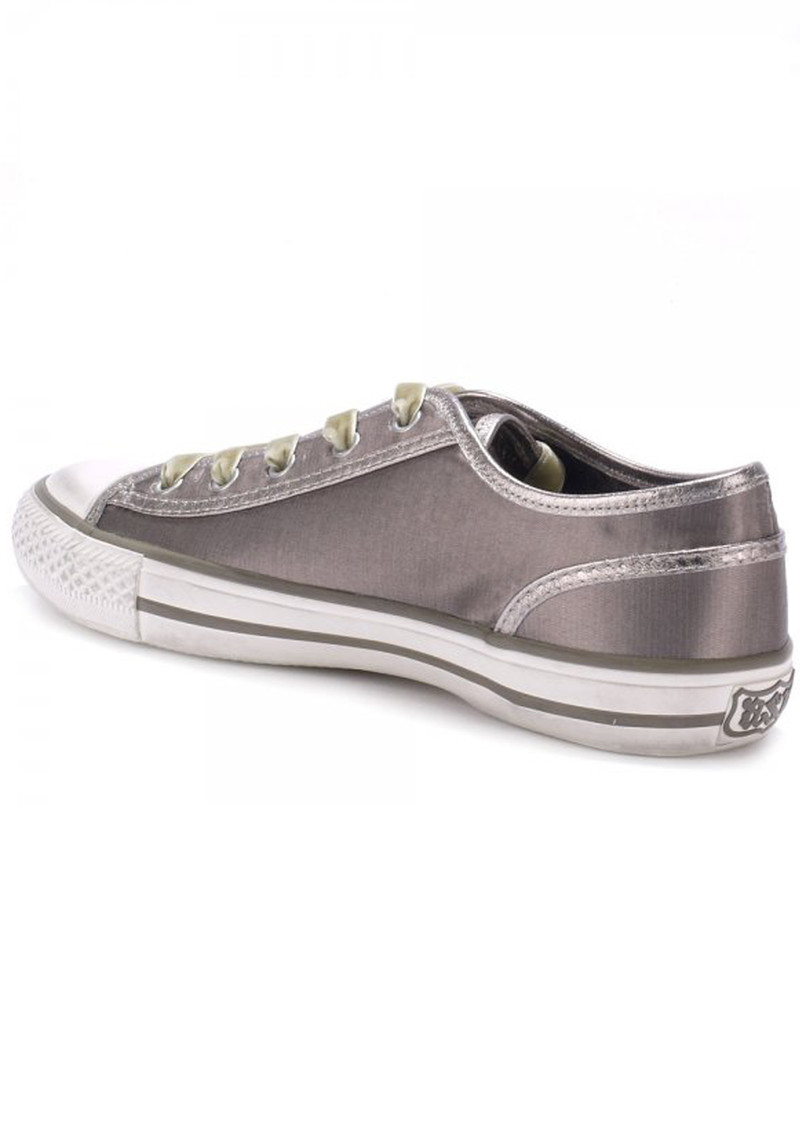 Ash Viper Satin Trainer - Taupe main image
