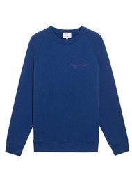 MAISON LABICHE Crazy in Love Cotton Sweatshirt - Navy