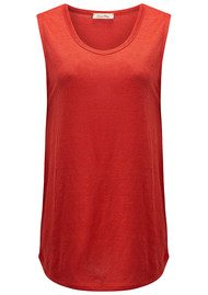 American Vintage Quincy Linen Tank - Chilli Pepper