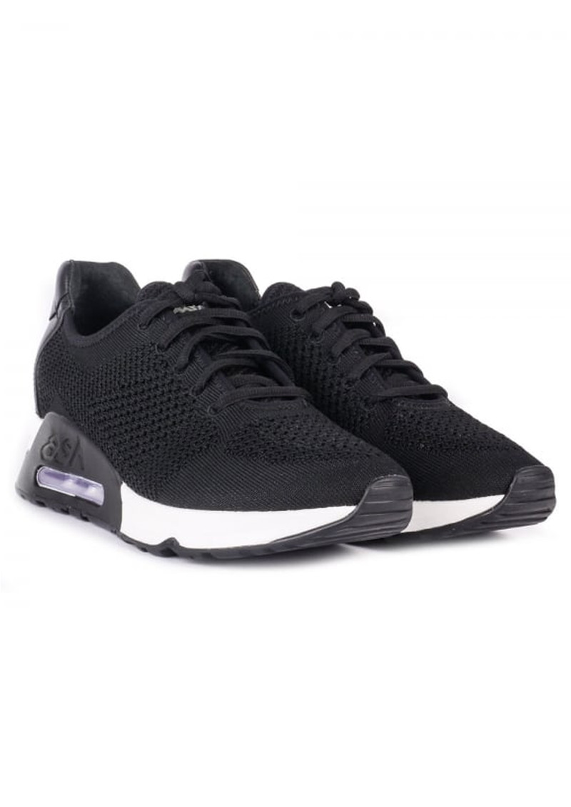 Lucky Knitted Trainers - Black main image