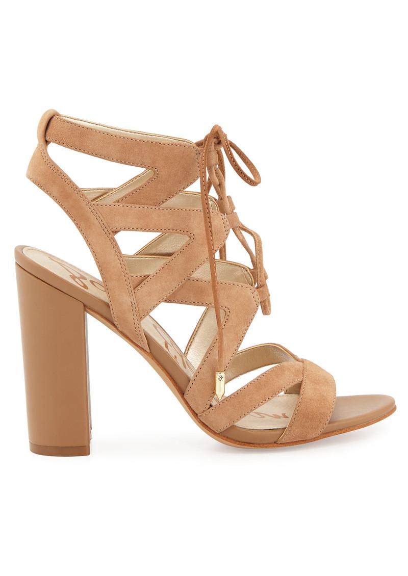 a6bd788ba13 Sam Edelman Yardley Lace Up Heels - Golden Caramel main image
