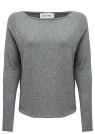 American Vintage Sonoma Round Neck Top - Heather Grey