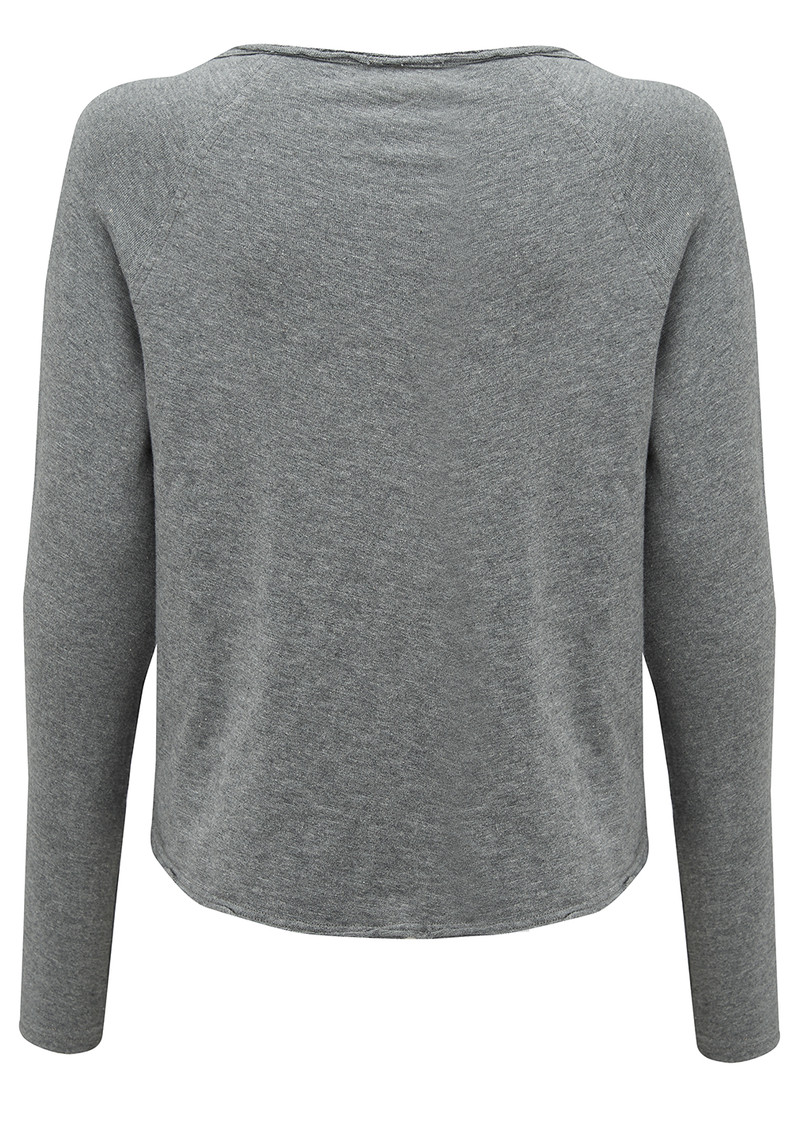 American Vintage Sonoma Round Neck Top - Heather Grey main image