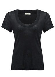 American Vintage Massachusetts Round Neck Tee - Black