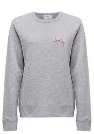MAISON LABICHE Tomboy Cotton Sweatshirt - Grey