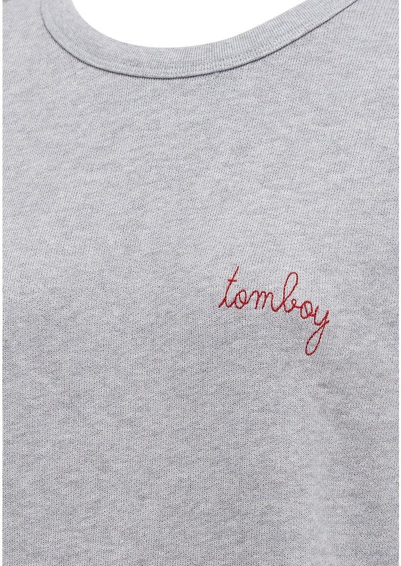 MAISON LABICHE Tomboy Cotton Sweatshirt - Grey main image
